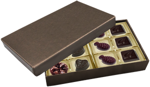 Deco Bronze or Red Rectangle Box  Assortment 12 Piece @