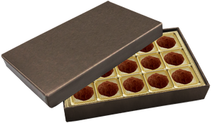 Deco Bronze Rectangle Box Truffle Delamain @
