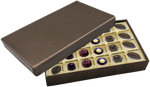Deco Bronze or Red Rectangle Box  Assortment 24 Piece @