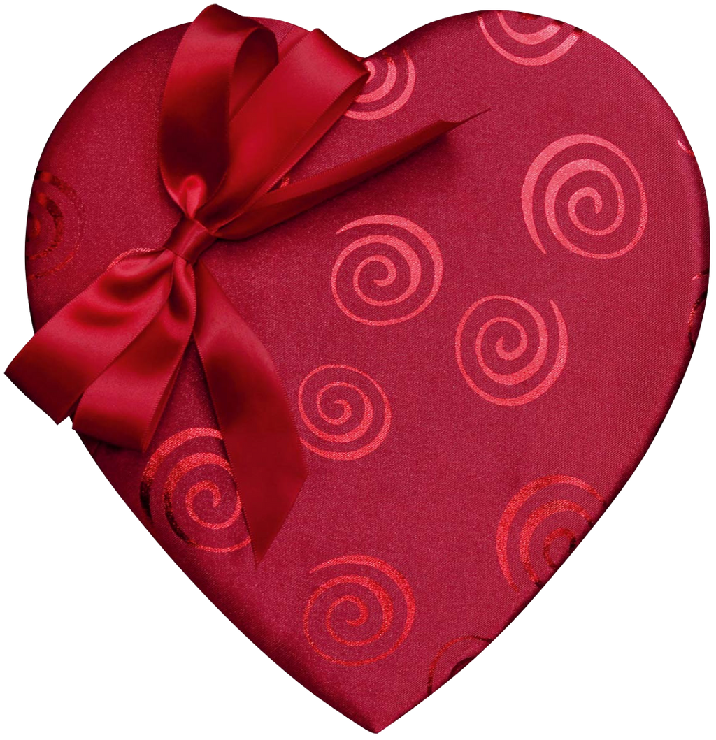 Mother's Day 14 Pieces Heart Box, Swirl and Bow Satin