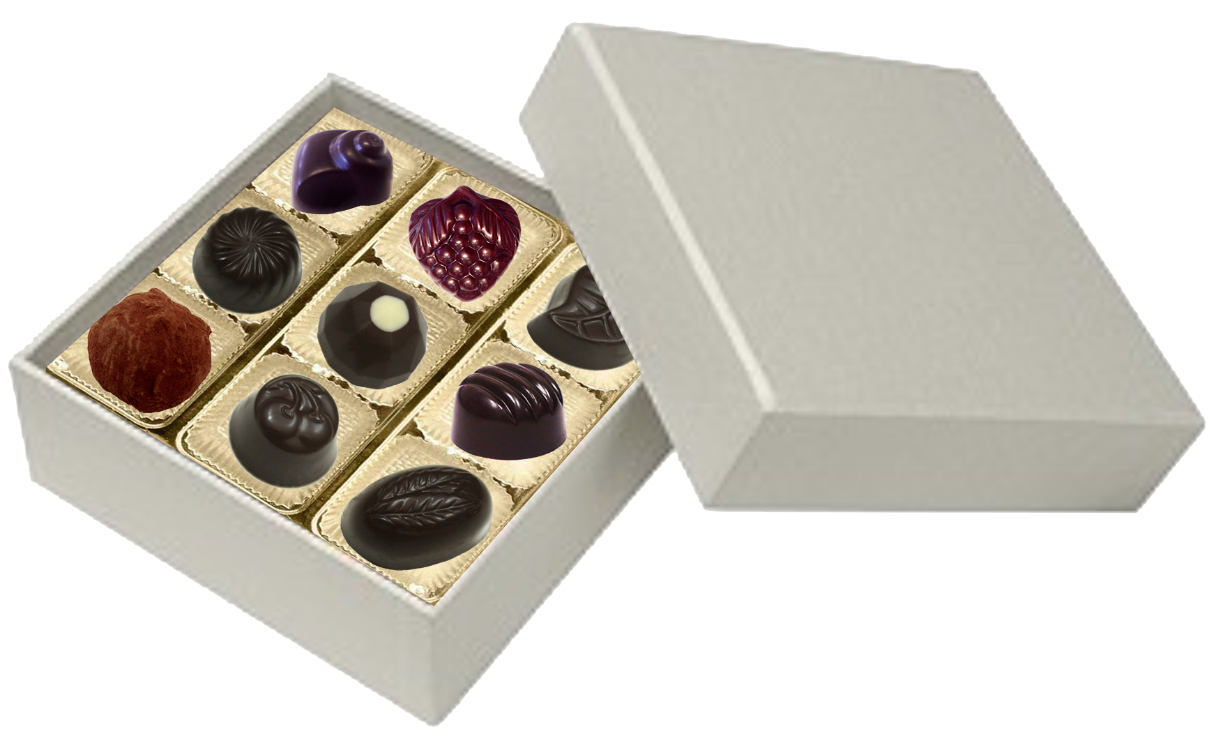 Square  Pearl 9 Piece Assortment @