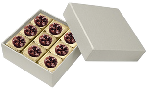 Square  Pearl 9 Piece of Macadamia Nuts Lava Rock.