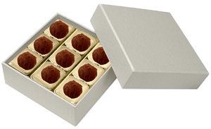 Square  Pearl 9 Piece of Truffles Delamain.