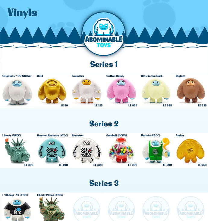 Abominable Toys Collection Trackers 1/25/21