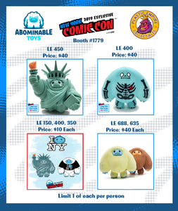 Abominable Toys Newsletter #7 NYCC Exclusives, Signing Schedule and More