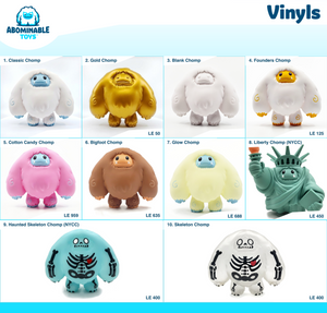 Updated Abominable Toys Collection Trackers