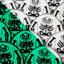 Limited Edition Skeleton Chomp Glow Enamel Pin