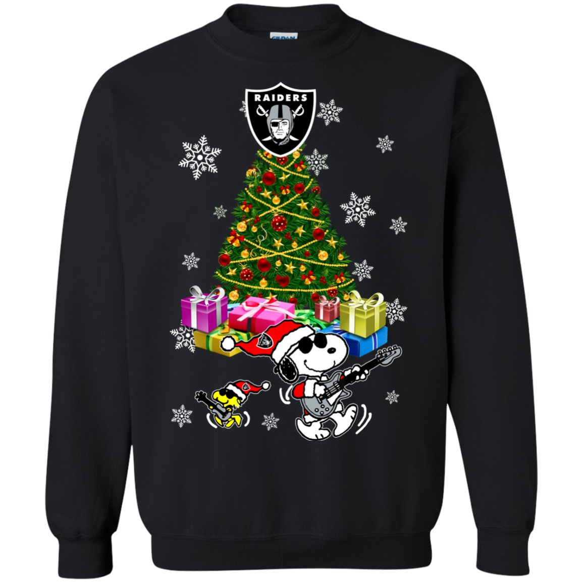Oakland Raiders Ugly Christmas Sweaters Merry Christmas Snoopy