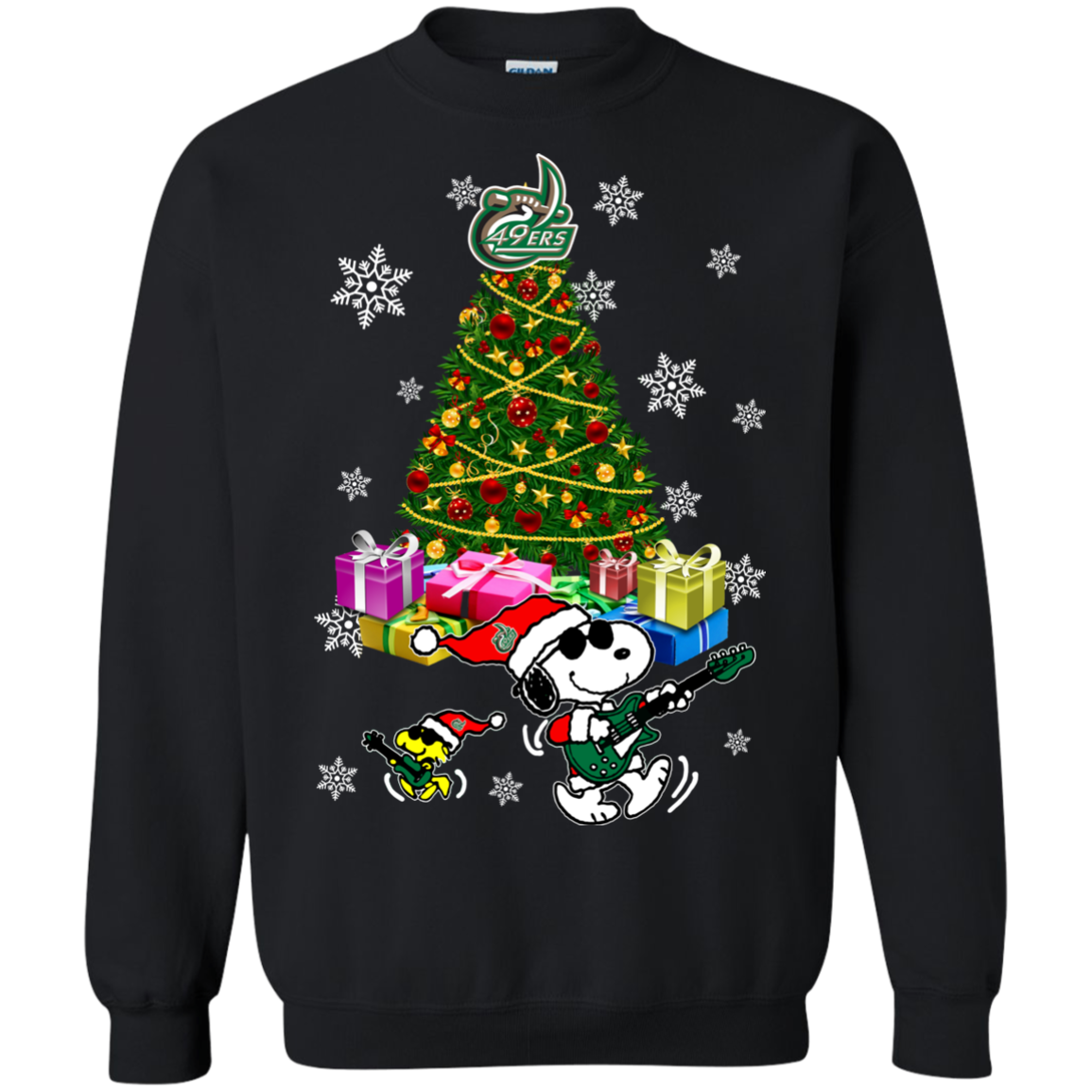 Charlotte 49ers Ugly Christmas Sweaters Merry Christmas Snoopy