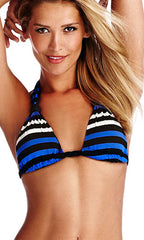 Vitamin A Stella Stripe Chloë Braid Halter Full (CAP)