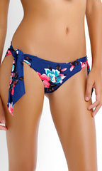 Seafolly Vintage Vacation Hipster Tie Side Bottom (BLU)