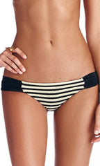 Vitamin A Bardot Stripe Antibes Ruched Hipster (FULL) (PSN)