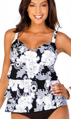 Penbrooke Snowflower Triple Tier Tankini (BLW)