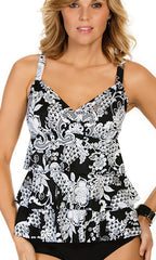 Penbrooke Intermingle Triple Tier Tankini (BLK)