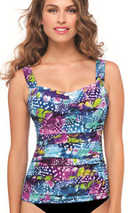 Profile By Gottex Royal Peacock D-Cup Tankini (MUL)