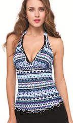 Profile by Gottex Kaleidoscope Halter Tankini (MULTI)