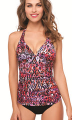 Aztec Profile By Gottex V-Neck Tankini (MUL)