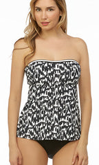 Beach House Ocean Breeze A-Line Bandeau Tankini (BLK)