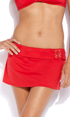 Jag Caprice Solids Skirted Bottom (RED)