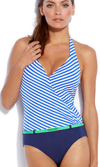 Jag Bel-Air Stripe Halter 1PC (BLUE)