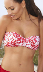 Jag South Pacific Bandeau Bra (RED)