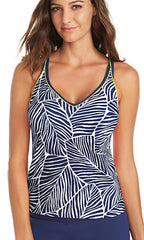 Jag Caribbean Breeze Crisscross Back Tankini (NAVY)