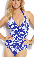 Jantzen Pop Floral Surplice One-Piece Swimsuit