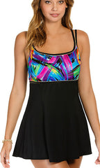 Longitude Wipe Out Empire Princess Swimdress (Long Torso)