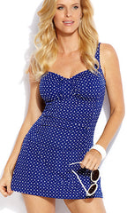 Jantzen Destination Dot Skater Swimdress (BLU)