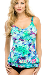 Christina Tropical Journey D-Cup Tankini (TURQ)
