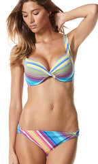 Sunset Stripe Perry Ellis U/W Bra & Hipster Bottom (SET) (BLU)