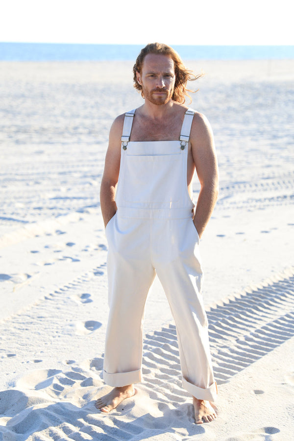 Arielle sustainable fashion men's overall organic cotton natural