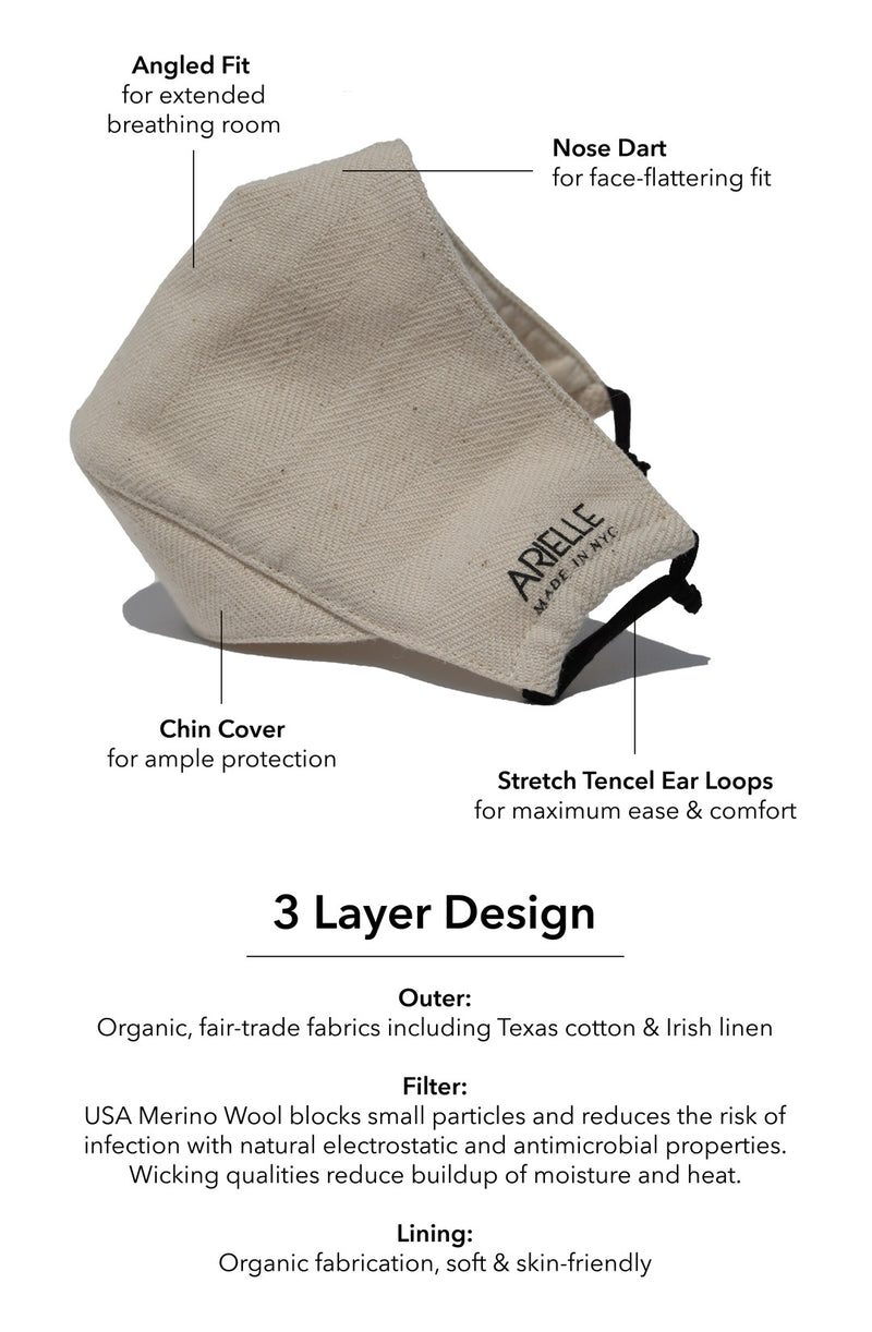sustainable organic reusable mask
