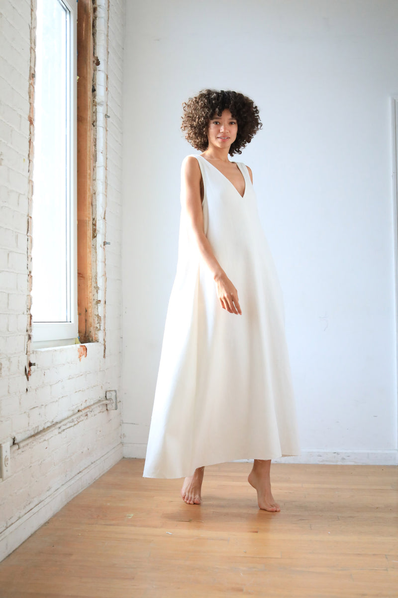 Arielle sustainable fashion circle Irish linen dress