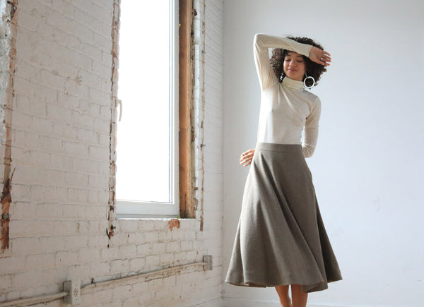 Arielle sustainable fashion Dakota recycled wool skirt