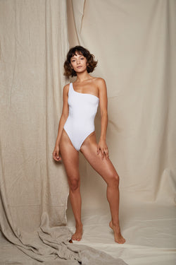 ARIELLE recycled polyester balance swimsuit white
