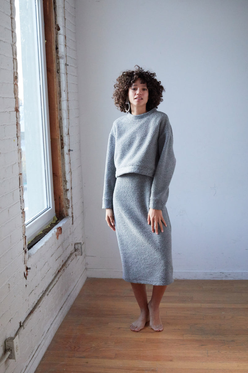 Arielle sustainable fashion virgo recycled wool dress