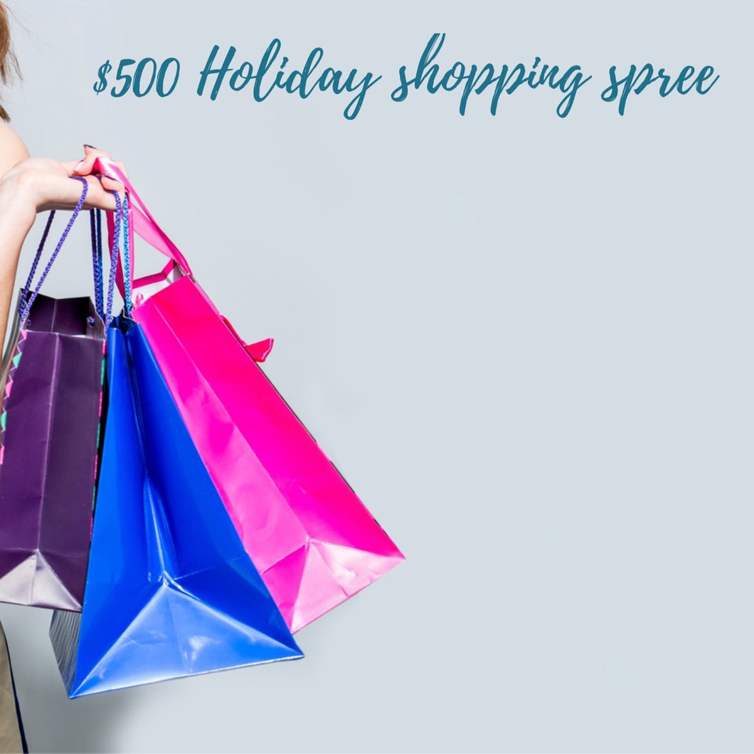 $500 Shopping Spree Giveaway, April 14-17