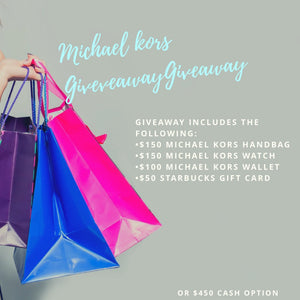 Michael Kors Giveaway (February 3, 2019 to February 6, 2019)