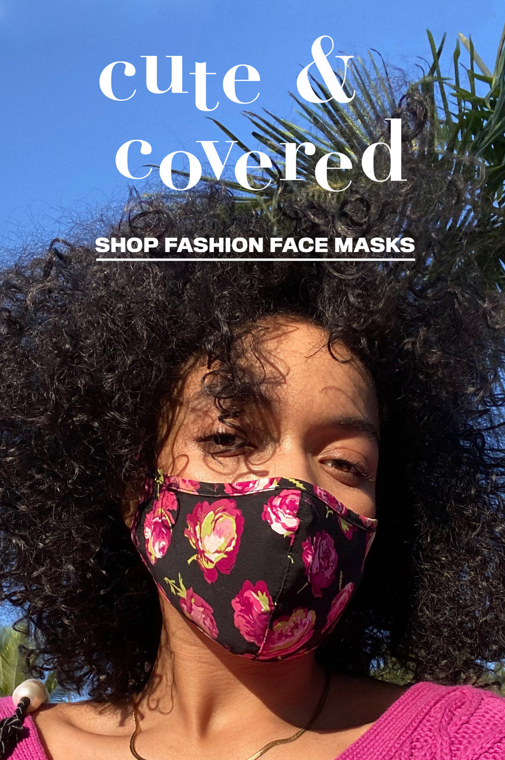 Fashion Masks Banner Mobile