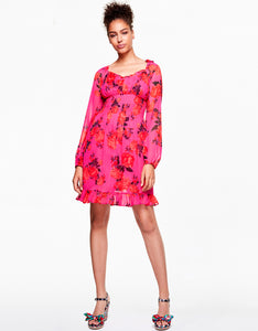BLOOMING ROSES DRESS PINK MULTI