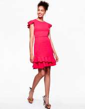 RUFFLED UP DRESS FUSCHIA - APPAREL - Betsey Johnson