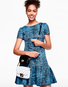 OUT IN THE WILD DRESS BLUE MULTI