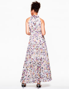 FLORAL FROLIC MAXI DRESS WHITE MULTI