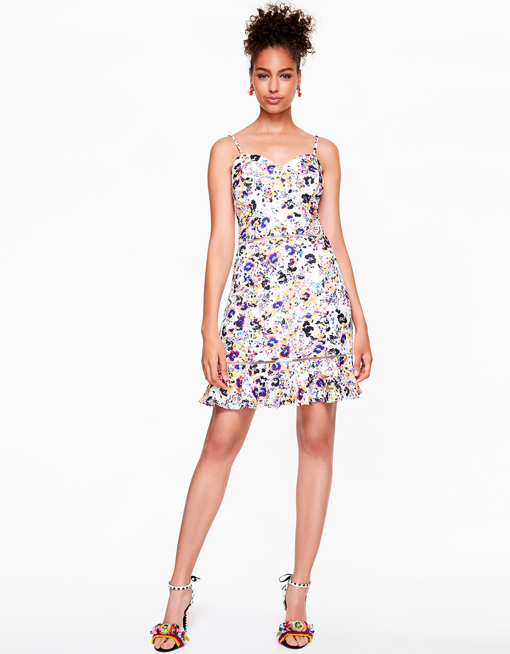 FLORAL FROLIC DRESS WHITE MULTI - APPAREL - Betsey Johnson