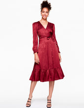 ALL WRAPPED UP DRESS WINE - APPAREL - Betsey Johnson