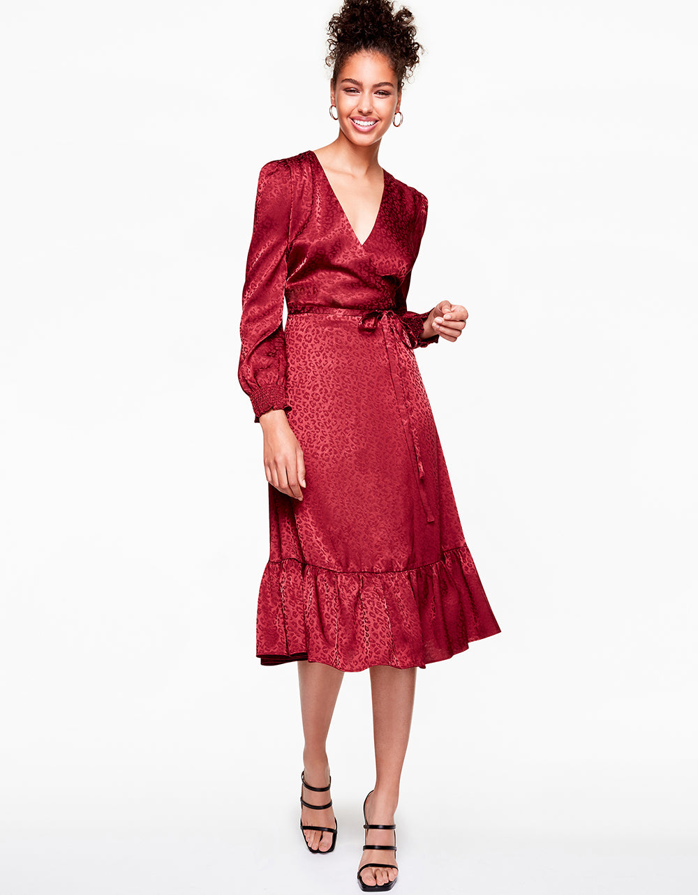 Betsey Johnson ALL WRAPPED UP DRESS in WINE RED