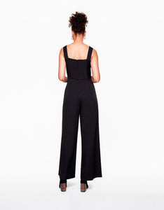 BUCKLED UP JUMPSUIT BLACK