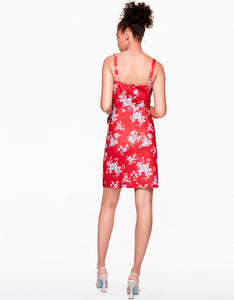 CHERRY BLOSSOM DRESS RED MULTI