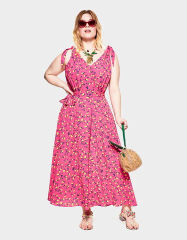 697a596acd95 VINTAGE FLOWERS DRESS PINK MULTI (EXTENDED SIZING)